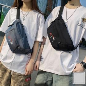 新款韩系小包包男户外腰包情侣胸包斜挎运动背包