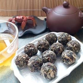 试喝十颗求評价冰岛龙珠冰糖甜普洱茶生茶250克