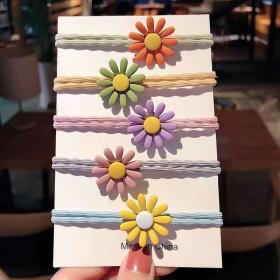 【F6261】6个精美小雏菊发圈