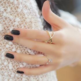 可调节指环水果开口日韩银饰戒指