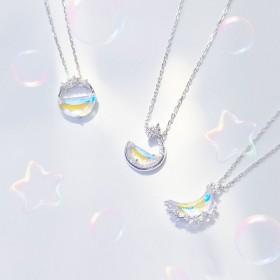 森系礼物学生锁骨链银项链日韩