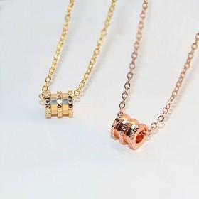 森系礼物饰品银饰简约玫瑰金锁骨链