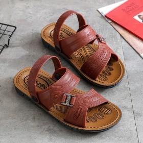 2021男夏季防水防滑沙滩鞋男士两用凉拖鞋软底凉鞋