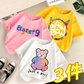 女童t恤大童短袖宽松韩版2021年夏季上衣时髦打底