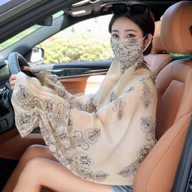 新款披肩夏季防晒衣防紫外线遮脸面纱冰丝口罩薄款斗篷
