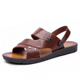 凉鞋男士夏季透气休闲沙滩鞋男潮流外穿青年两用凉拖鞋