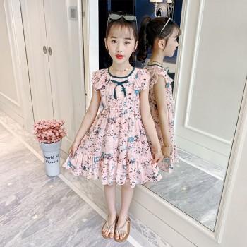 女童雪纺连衣裙夏