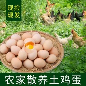 【新鲜鸡蛋】40枚土鸡蛋新鲜鸡蛋当天捡当天发谷物喂
