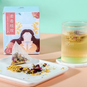 桂花玫瑰袋泡茶一盒10包独立包装