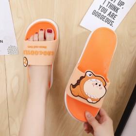 新款居家浴室防滑厚软底卡通泡泡龙凉拖鞋可爱少女造型