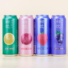 果肉果粒果汁500g初饮大瓶夏天饮品草莓葡萄荔枝橙