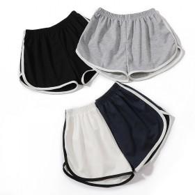 2021夏裤子女黑色宽松运动休闲短裤女学生高腰阔腿