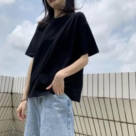 纯色韩版宽松白搭短袖t恤