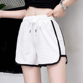 健身跑步速干运动短裤女2021新品纯色宽松外穿韩版