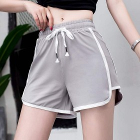 2021夏季健身跑步速干运动短裤女纯色宽松外穿韩版