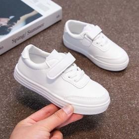 2021儿童皮面男女童全白小白鞋全白板鞋
