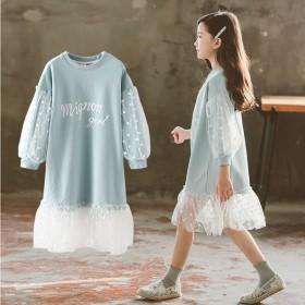 女童连衣裙秋装2021新款韩版春秋季童装儿童长袖裙