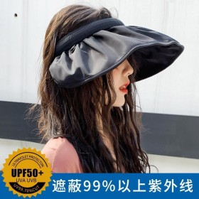 帽子女韩版百搭防晒遮脸太阳帽贝壳渔夫帽防紫外线遮