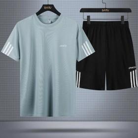 运动套装男士休闲夏季薄款冰丝短袖短裤