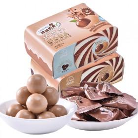 法思觅语黑糖珍珠奶茶巧克力80g网红日本味夹心怀旧