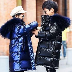 童装男童女童棉衣中长款2021新款中大童洋气冬装棉