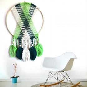 波西米亚手工编织挂毯北欧床头玄关背景墙民宿装饰壁挂