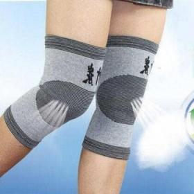 保暖透气竹炭护膝男女士四季通用运动老寒腿四面弹空调