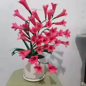 植物叶片手工编织假花