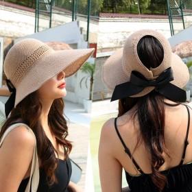 大帽檐防晒帽女网红遮阳空顶帽ins可折叠凉帽时尚