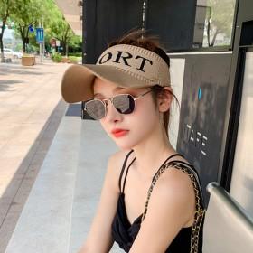 帽子女夏季空顶遮阳防晒户外运动鸭舌帽百搭防紫外线