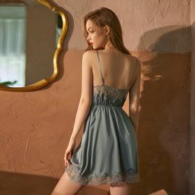 睡裙女夏季薄款性感维密蕾边吊带睡衣