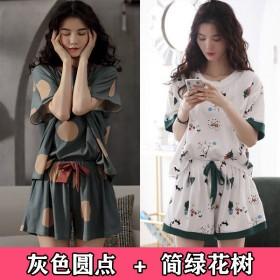 2套装睡衣女夏季短袖套装女士卡通学生宽松可外穿家居