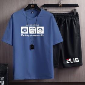 男士运动套装韩版潮流宽松休闲短袖短裤T恤帅气衣服
