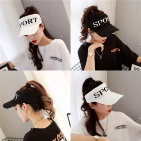 帽子女夏季空顶帽休闲韩版透气新款防晒太阳帽鸭舌帽户