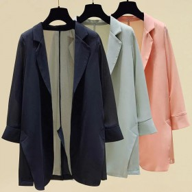 网红雪纺薄款小西装外套女春夏季西服防晒衫休闲空调衫