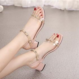 凉鞋女百搭粗跟 仙女风  惠州品质女鞋