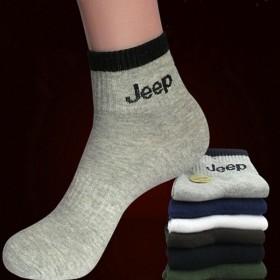 6双装男士纯棉时尚休闲袜子军工中筒运动防臭男短袜潮