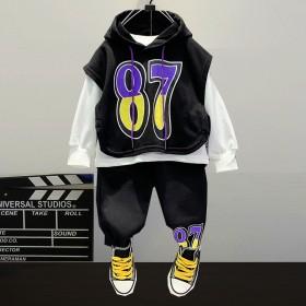 童装男童嘻哈街舞套装小童秋装2021年新款马甲长袖