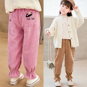 女童灯芯绒秋季薄款长裤