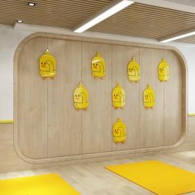 网红卡通可爱小黄鸭幼儿园舞蹈儿童房背景墙卧室冰箱贴