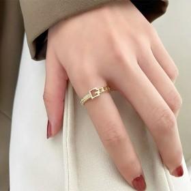 女士时尚个性戒指女ins潮轻奢小众设计精致网红开