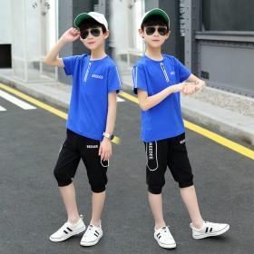 儿童套装2021新款夏装帅气儿童洋气韩版中大童夏