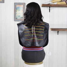 烫染披肩围布发廊理发专用焗油塑料透明围布