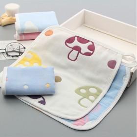 3条婴儿纯棉纱布口水巾儿童6层洗脸巾新生幼儿夏季薄