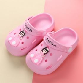 宝宝拖鞋夏季儿童拖鞋软底轻便公主女童洞洞鞋