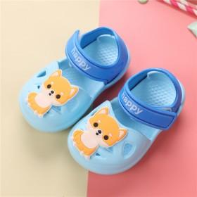 小童男宝宝软底小猫小狗凉鞋儿童洞洞鞋