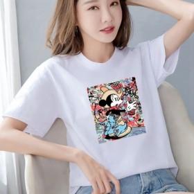 【100%纯棉】短袖T恤女宽松大码