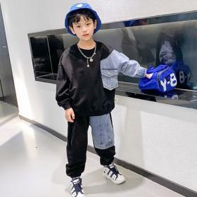 童装男童套装秋装2021年新款10岁帅气12男孩8