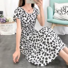 棉绸连衣裙中长款款女夏季
