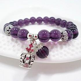 紫水晶马瑙手链女